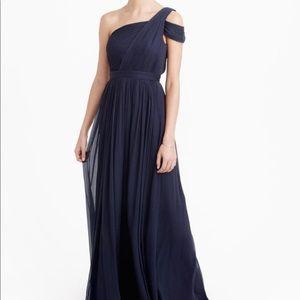 J. Crew Navy Bridesmaid Dress